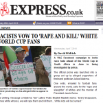 Black thugs in SA vow to kill and rape white tourists.