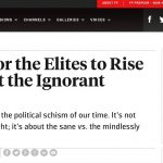 Foreign Policy: It's Time For The Elites To Rise Up Against The Ignorant Masses