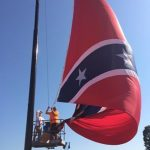 Monster Confederate Flag raised in Danville, VA