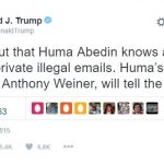 Trump predicted Weiner would bring down Hillary OVER a year ago!